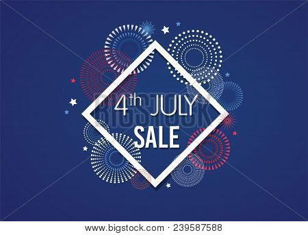 4th Of July Exclusive Offers Sale, Sale Poster, Sale Banner, Sale Flyer, Extra Discount Offer, Onlin