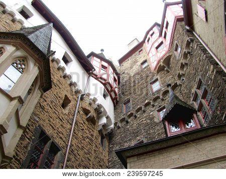 Eltz Germany, July 14, 2015:burg Eltz Castle Near Mosel River Valley, Germany