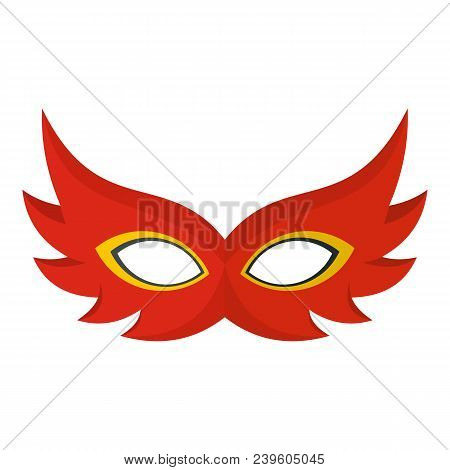 Nice Mask Icon. Flat Illustration Of Nice Mask Vector Icon For Web