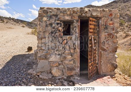 The Crumbling Remains Of A Jail Built During The Pioneer Days Of Arizona. Located Near Casa Grande O