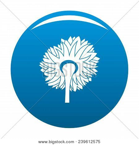 Turning Sunflower Icon. Simple Illustration Of Turning Sunflower Vector Icon For Any Design Blue