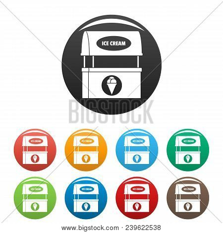 Ice Creme Selling Icon. Simple Illustration Of Ice Creme Selling Vector Icons Set Color Isolated On