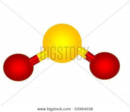Sulfur dioxide molecular structure