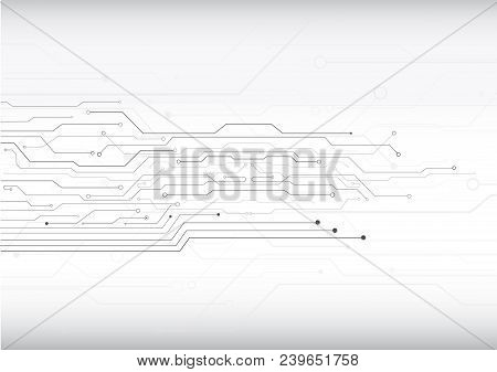 Circuit Board Pattern Or Abstract Circuit Line Vector Illustration