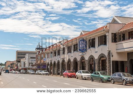 Ladysmith, South Africa - March 21, 2018: A Street Scene, With Businesses And Vehicles, In Ladysmith