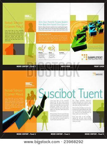 Tri-fold Brochure Layout Design Template