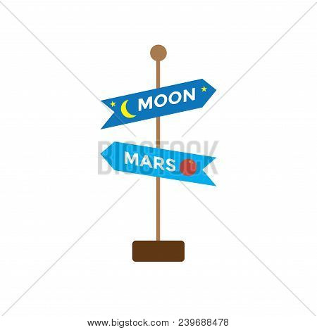 Space Travel Icon W Sign - Tourism To Outer Space - Exploration Astrotourism