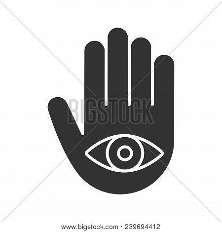 Eye Hand Glyph Icon Vector Photo Free Trial Bigstock