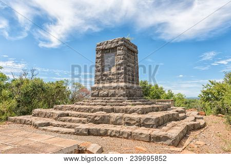 Elandslaagte, South Africa - March 21, 2018: A Monument At Elandslaagte, The Site Of A Fierce Battle