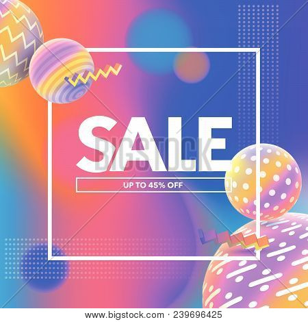 Final Sale Banner. Special Offer, Big Sale Banner. Multicolored Abstract Vector Holographic 3d Backg
