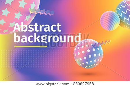 Fluid Colorful Shapes Composition. Trendy Gradients. Multicolored Abstract Vector Holographic 3d Bac