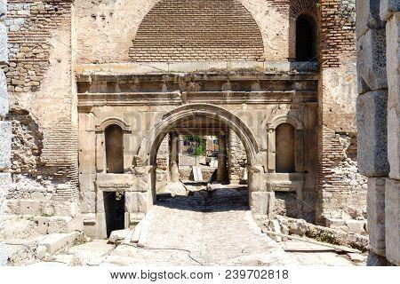 Historical Stone Walls And Doors Of Iznik