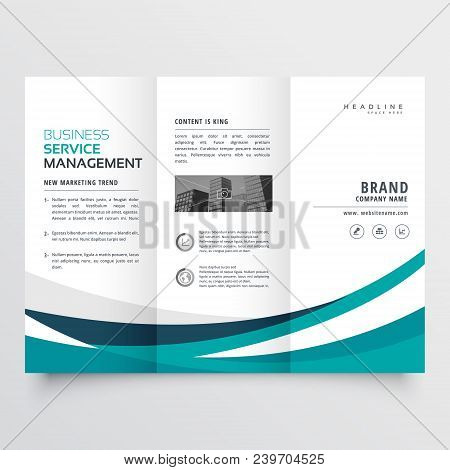 creative business trifold brochure vector design template poster
