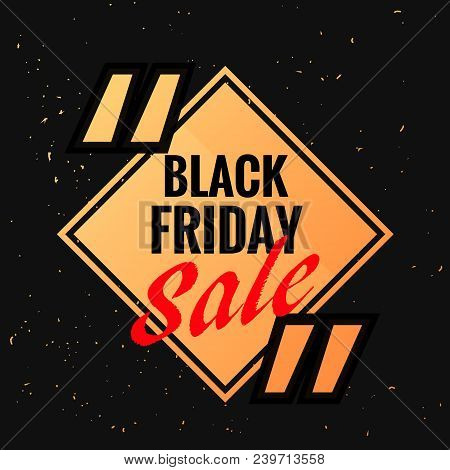 Black Friday Symbol With Sale Discount Option And Quotation Marks