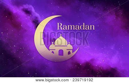 Symbol of the Islamic holiday Ramadan