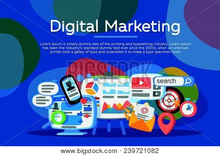 Digital Marketing Concept. Business Development, Lead Generation. Social Network And Media Communica