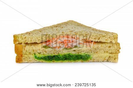 Sandwich Isolated On White Background Cheese Food
