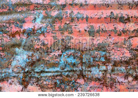 Rusty And Corroded Metal Plate, Texture Image