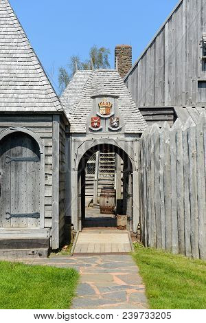 Port Royal National Historic Site In Port Royal, Nova Scotia, Canada. The Original Fort Was Built By