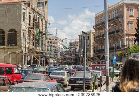 Tripoli, Lebanon, April 09 - 2017: Center Of The City Of Tripoli, North Of Lebanon, People Of Cultur