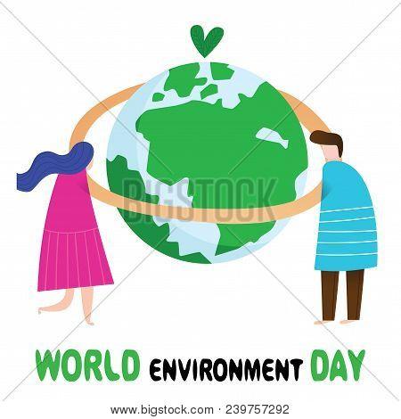 World Environment Day Concept.creative Poster For World Environment Day.design In A Colorful Style.