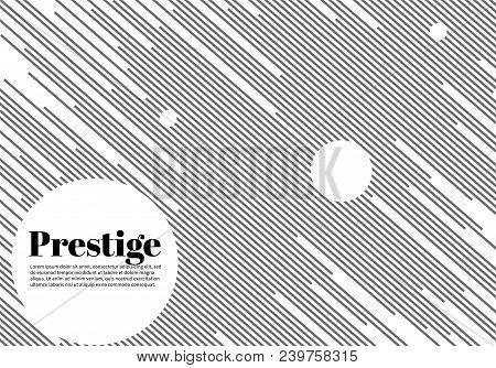 Prestige White Modern Business Brochure. Leaflet, Flyer, Cover Template. Abstract Diagonal Backgroun