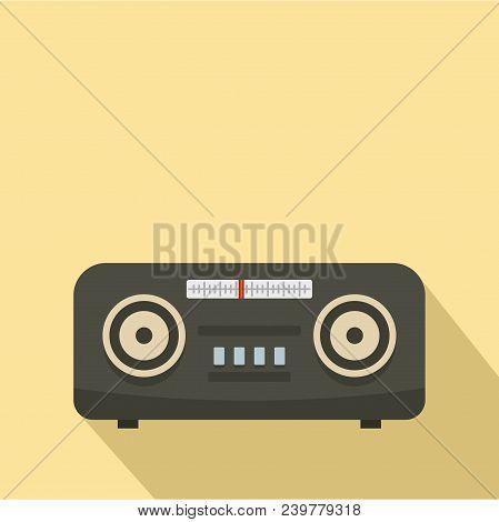 Vintage Fm Radio Icon. Flat Illustration Of Vintage Fm Radio Vector Icon For Web Design
