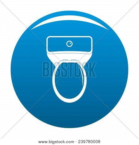 Lavatory Icon. Simple Illustration Of Lavatory Vector Icon For Any Design Blue