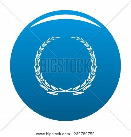 Glory Wreath Icon. Simple Illustration Of Glory Wreath Vector Icon For Any Design Blue