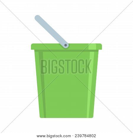 Domestic Bucket Icon. Flat Illustration Of Domestic Bucket Vector Icon For Web