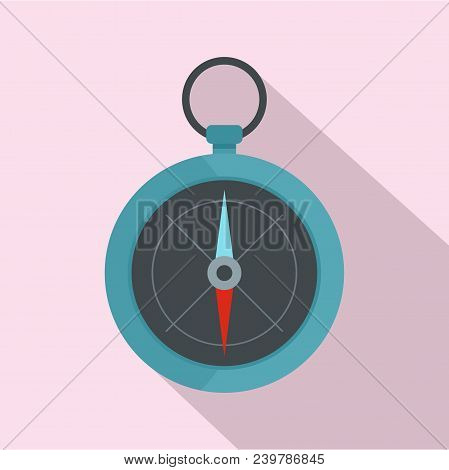 Compass Icon. Flat Illustration Of Compass Vector Icon For Web Design