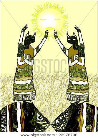 Priestesses of the sun