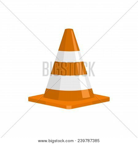 Forbidden Cone Icon. Flat Illustration Of Forbidden Cone Vector Icon For Web