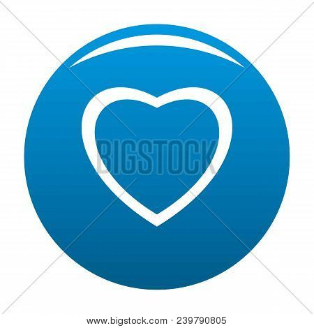 Fearless Heart Icon. Simple Illustration Of Fearless Heart Vector Icon For Any Design Blue