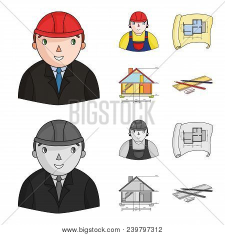 Engineer-constructor, Construction Worker, Site Plan, Technical Drawing Of The House. Architecture S