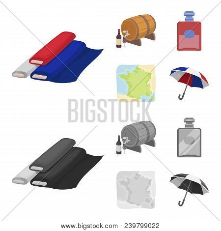 France, Country, Nation, National .france Country Set Collection Icons In Cartoon, Monochrome Style