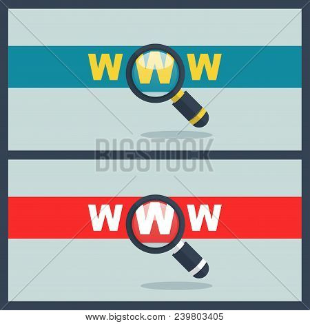 Illustration Of Www Word With Magnifier Concept