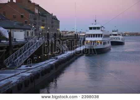 Dock On A Cold Evening