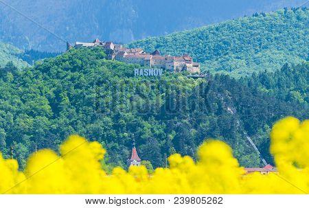 Medieval Fortress Of Rasnov, Brasov Landmark, Transylvania, Romania