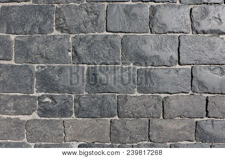 Paving Stone On Red Square, Cobbles On The Red Square,from Gabbro-diabases From The Islands Of Onega