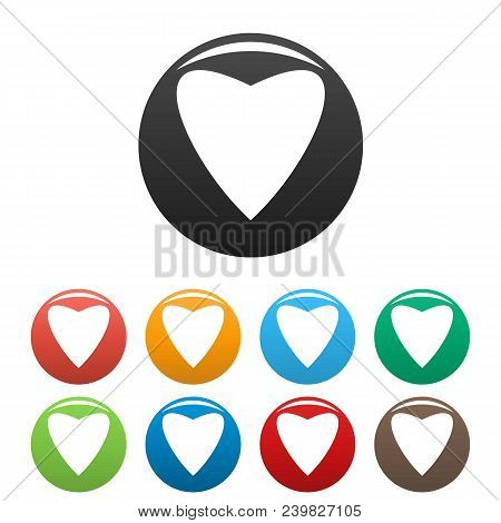 Proud Heart Icon. Simple Illustration Of Proud Heart Vector Icons Set Color Isolated On White