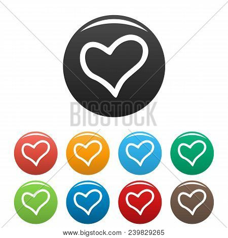 Faithful Heart Icon. Simple Illustration Of Faithful Heart Vector Icons Set Color Isolated On White