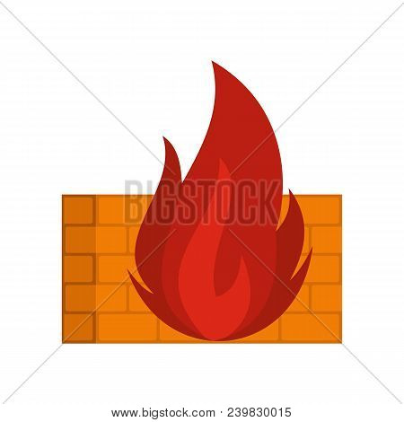 Burning Security Icon. Flat Illustration Of Burning Security Vector Icon For Web