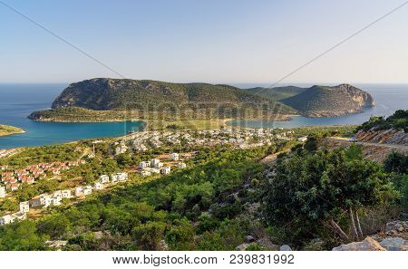 Cape Tisan On The Mediterranean Sea Coast. Mersin Province. Turkey.