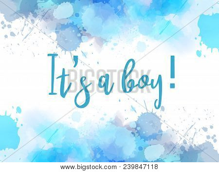 It's A Boy Watercolor Background