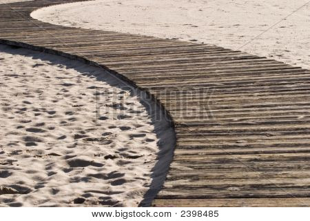 Jogging Path Along The Beach