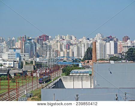 Panoramic View Of The Sao Caetano City In Sao Paulo Metropolitan Region, Brazil