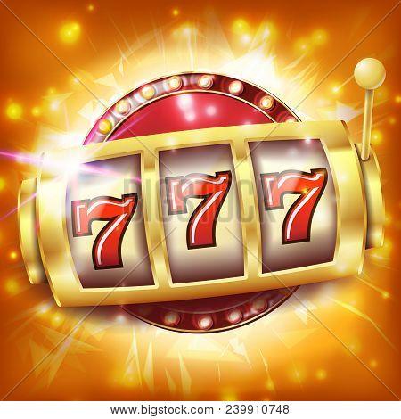 Slot Machine Banner Vector. Casino Casino Success Concept. Screen. Fortune Jackpot. Illustration