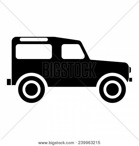 Off Road Vehicle Icon Black Color Vector Illustration Flat Style Simple Image