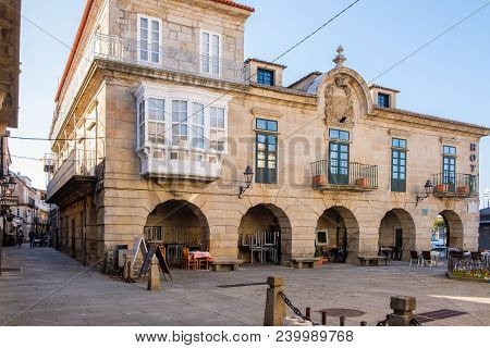 Baiona, Espanha - May 03, 2018 : One Of Many Magnificent Buildings In The City, Pontevedra, Espanha